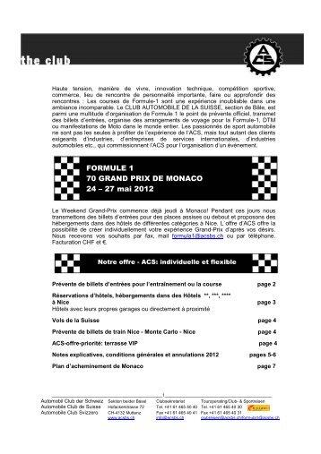 FORMULE 1 70 GRAND PRIX DE MONACO 24 – 27 mai 2012