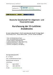 Kurzfassung der S3-Leitlinie: Analabszess - AWMF