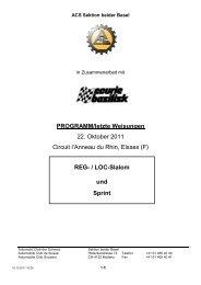 LOC-Slalom und Sprint - ACS Automobil-Club der Schweiz