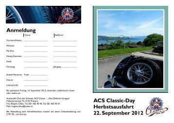 Anmeldung ACS Classic-Day Herbstsausfahrt 22 September 2012