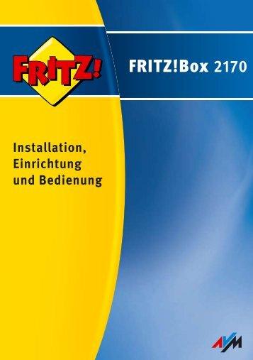 Handbuch FRITZ!Box 2170 - AVM