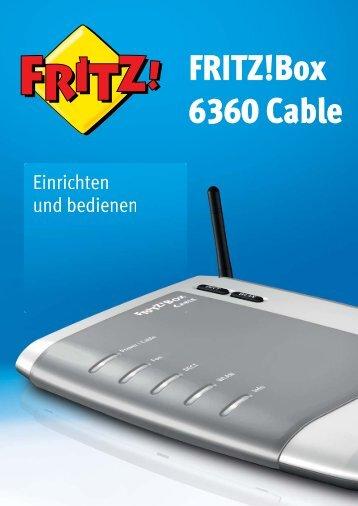 Handbuch FRITZ!Box 6360 Cable - AVM