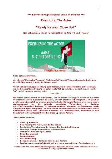 Energizing The Actor Schweiz