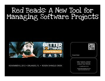 Red Beads A New Tool for Managing Software Projects