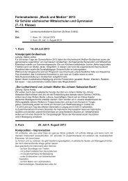 """Ferienakademie """"Musik und Medien"""" 2013 für Schüler sächsischer ..."""