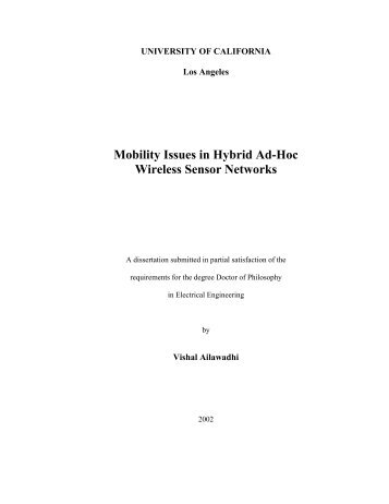 Mobility Issues in Hybrid Ad-Hoc Wireless Sensor Networks