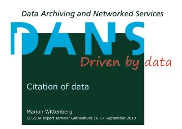 Citation of data