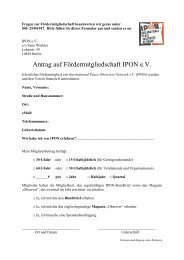 Antrag auf Fördermitgliedschaft IPON e.V