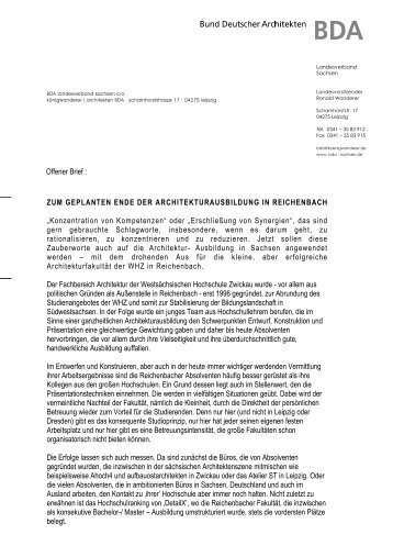 download - BDA Sachsen - Bund Deutscher Architekten BDA