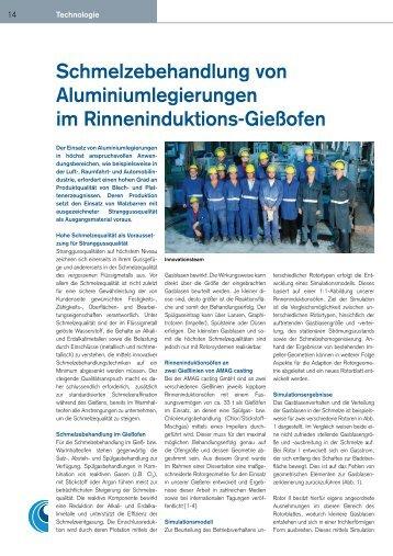 Schmelzebehandlung von Aluminiumlegierungen im ...