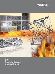 DPH Dispersion Hardened Platinum Materials