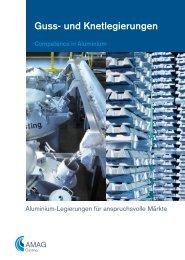 Guss- und Knetlegierungen - Austria Metall AG