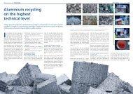 Aluminium recycling on the highest technical level - Austria Metall AG