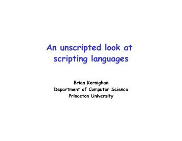 An unscripted look at scripting languages