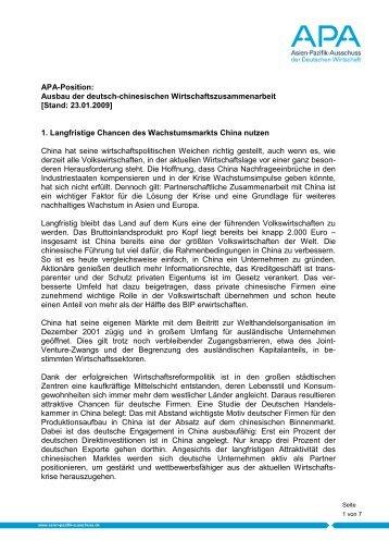 Positionspapier zum Download - beim Asien-Pazifik Ausschuss der ...