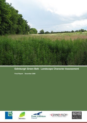 Edinburgh Green Belt Landscape Character Assessment