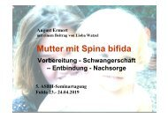 Mutter mit Spina bifida - ASbH
