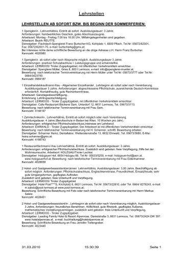 Lehrstellen - Arbeitsmarktservice Österreich
