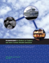Technologies to Reduce or Capture and Store Carbon Dioxide Emissions