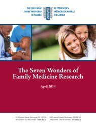 The Seven Wonders of Family Medicine Research