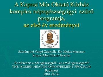 A Kaposi Mór Oktató Kórház komplex ... - mellrakellen.hu