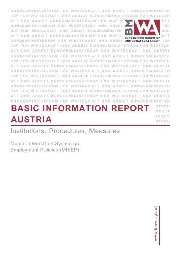 BASIC INFORMATION REPORT AUSTRIA