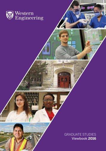 GRADUATE STUDIES Viewbook 2016