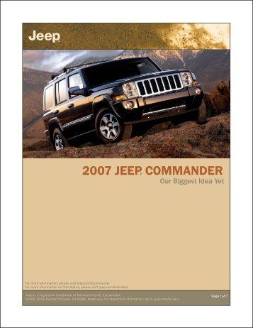 2009 commander qrg 1st pdf jeep. Black Bedroom Furniture Sets. Home Design Ideas