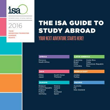THE ISA GUIDE TO STUDY ABROAD