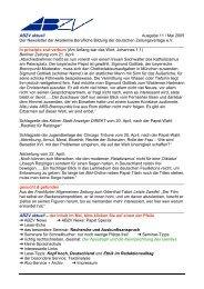 ABZV aktuell Ausgabe 11 / Mai 2005 Der Newsletter der Akademie ...