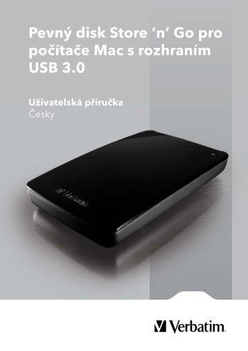Pevný disk Store 'n' Go pro počítače Mac s rozhraním USB 3.0