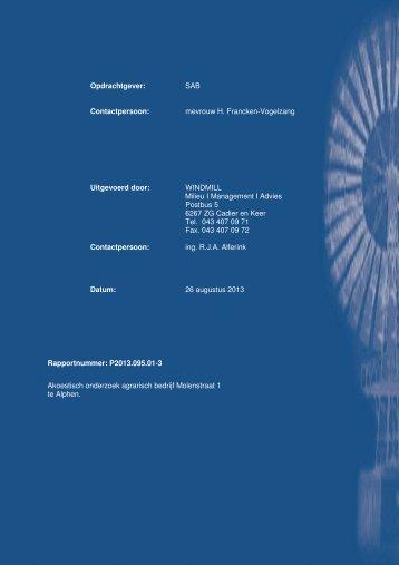Bijlage 2 Akoestisch onderzoek industrielawaai - Gemeente West ...