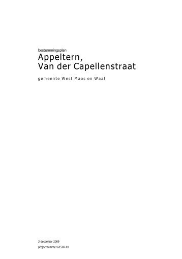 Appeltern Van der Capellenstraat
