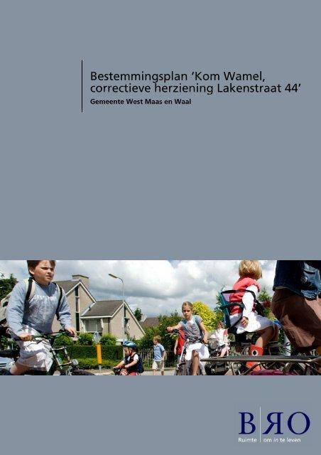 Bestemmingsplan 'Kom Wamel correctieve herziening Lakenstraat 44'