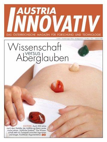 Wissenschaft versus Aberglauben - Austria Innovativ