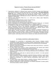 Regulamin Konkursu - Amazingtv.pl