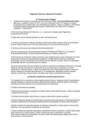 "Regulamin konkursu ""Muzyczne Fanaberie"" § 1 ... - Amazingtv.pl"