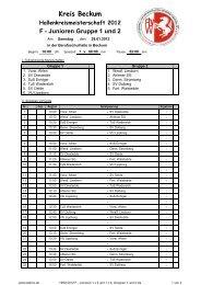 HKM 2012 F - Junioren 1 x 5 und 1 x 6, Gruppen 1 ... - Kreis 4 Beckum