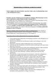 nowy okres świadczeniowy 2012/2013. - Biuletyn Informacji ...