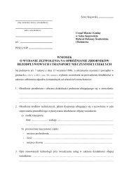 wniosek o wydanie zezwolenia na opróżnianie zbiorników ...