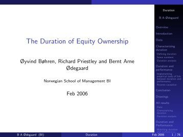 The Duration of Equity Ownership