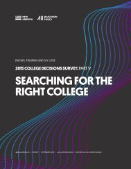 SEARCHING FOR THE RIGHT COLLEGE