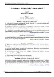 REGIMENTO DO CONSELHO DE DISCIPLINA