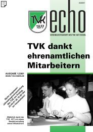 TVK-Echo 1/2001 - Turnverein 1877 eV Essen-Kupferdreh