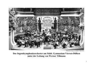 Das Jugendsymphonieorchester am Städt. Gymnasium Viersen-Dülken ...