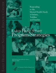 infant mental health - The Early Head Start National Resource Center