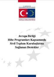 AB Hibe Programları - Avrupa Birliği Genel Sekreterliği