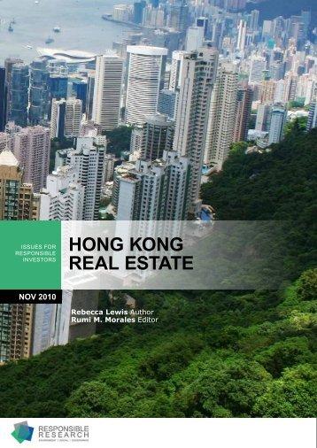 HONG KONG REAL ESTATE - Responsible Research