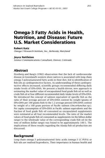 Omega-3 Fatty Acids in Health, Nutrition, and Disease - Home.gci.net