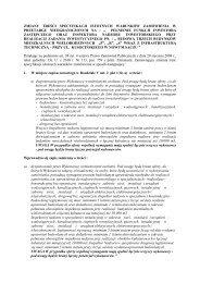 zmiany treści specyfikacji istotnych warunków ... - STBS Spółka z oo